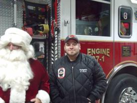 Santa with Firefighter Steve Swick
