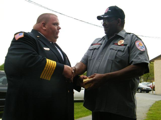 Chief Dowlin with Chief Lavender
