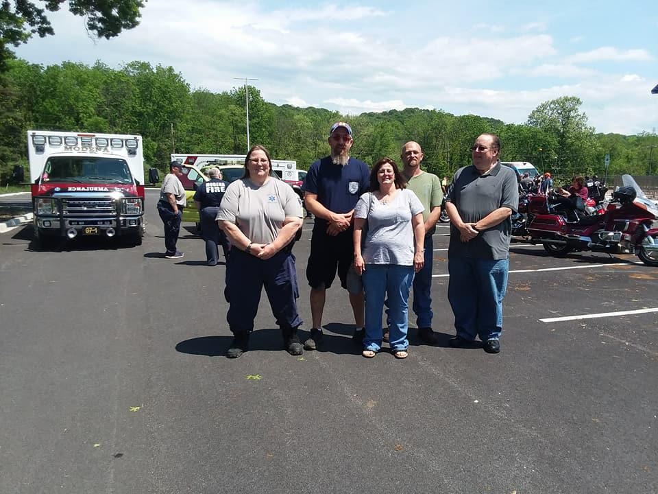 Old members from the Atglen Fire Company came out to honer Robert Ashby Sr, these members served under his when he was Assistant Chief