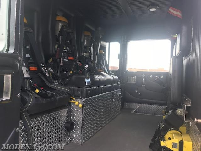 4 SCBA rear facing seats crew area